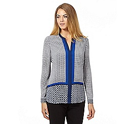 J by Jasper Conran - Blue tile print blouse