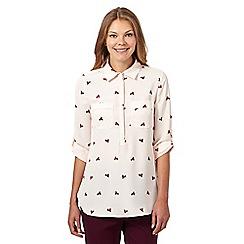 J by Jasper Conran - Designer pale pink circle cluster print shirt