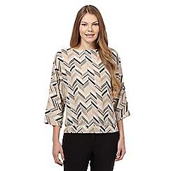 J by Jasper Conran - Beige zig zag blouse
