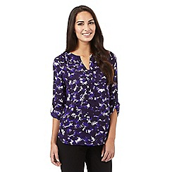 J by Jasper Conran - Purple leaf print shirt