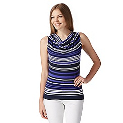 J by Jasper Conran - Designer purple striped cowl jersey vest