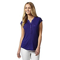 J by Jasper Conran - Designer purple button neck top