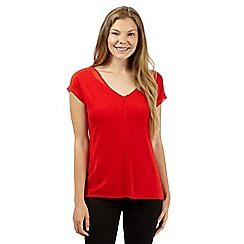 J by Jasper Conran - Designer bright red chiffon shoulder top