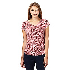 J by Jasper Conran - Designer dark pink dash dot cowl top