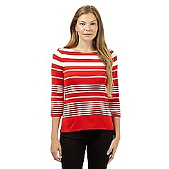 J by Jasper Conran - Designer bright red striped jersey top
