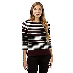 J by Jasper Conran - Designer dark purple striped jersey top