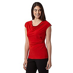 J by Jasper Conran - Designer red cowl neck top