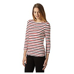 J by Jasper Conran - Designer ivory striped top