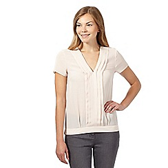 J by Jasper Conran - Pale pink pleat front top