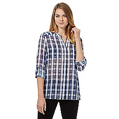 J by Jasper Conran - Blue checked blouse