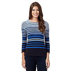J by Jasper Conran - Blue striped jersey top