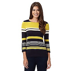 J by Jasper Conran - Navy colour block striped jersey top