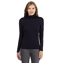 J by Jasper Conran - Navy plain polo neck top