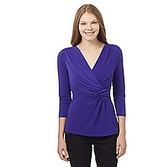 J by Jasper Conran - Purple twist top