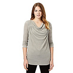 J by Jasper Conran - Grey cowl neck top