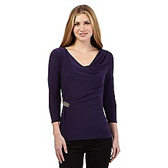 J by Jasper Conran - Purple ruched embellished top