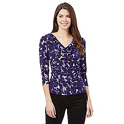 J by Jasper Conran - Purple leaf jersey top