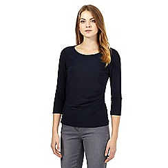 J by Jasper Conran - Navy gathered jersey top