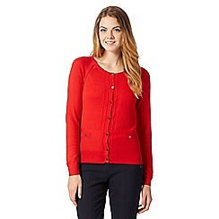 J by Jasper Conran - Designer red pocket detail cardigan