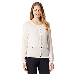 J by Jasper Conran - Designer light pink pocket detail cardigan
