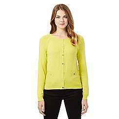 J by Jasper Conran - Lime pocket detail cardigan