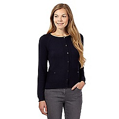 J by Jasper Conran - Navy pocket detail cardigan