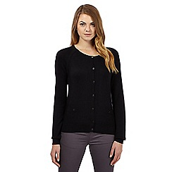 J by Jasper Conran - Black pocket detail cardigan