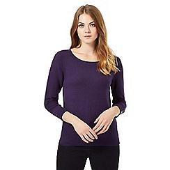 J by Jasper Conran - Purple textured sleeve jumper