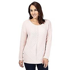 J by Jasper Conran - Pale pink chunky knit jumper