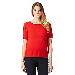 J by Jasper Conran - Designer red back button detail jumper