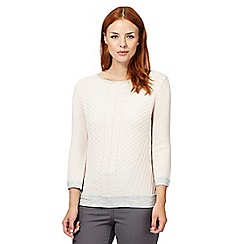 J by Jasper Conran - Designer light pink angled stitched jumper