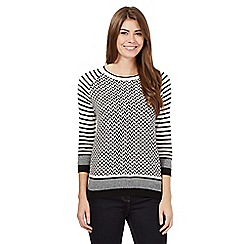 J by Jasper Conran - Black stripe jumper