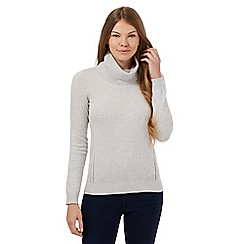 J by Jasper Conran - Grey roll neck cashmere-blend jumper