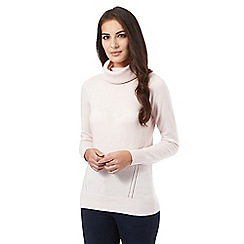 J by Jasper Conran - Pale pink cashmere roll neck jumper