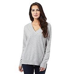J by Jasper Conran - Light grey cashmere jumper