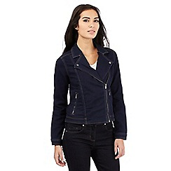 J by Jasper Conran - Dark blue denim biker jacket