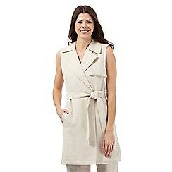 J by Jasper Conran - Natural sleeveless linen waistcoat