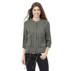 J by Jasper Conran - Khaki pocket jacket