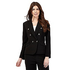 J by Jasper Conran - Black double breasted jacket