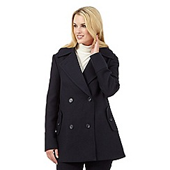 J by Jasper Conran - Navy reefer coat