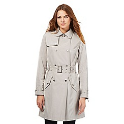 J by Jasper Conran - Grey shower resistant mac coat