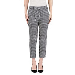 J by Jasper Conran - Navy circle print cropped trousers