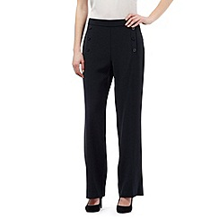 J by Jasper Conran - Navy button wide leg trousers