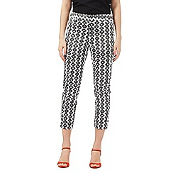 J by Jasper Conran - Khaki geometric print cropped trousers