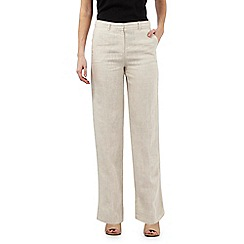 J by Jasper Conran - Natural tapered linen trousers