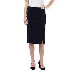 J by Jasper Conran - Navy tailored pencil skirt