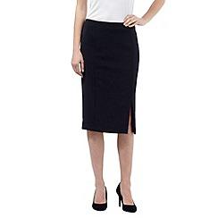 J by Jasper Conran - Navy tailored pencil skirt