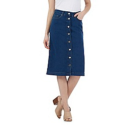 J by Jasper Conran - Blue button down denim skirt