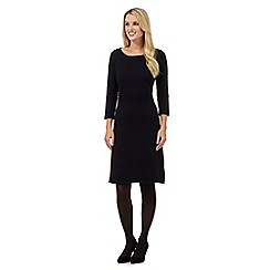 J by Jasper Conran - Navy ottoman knit dress