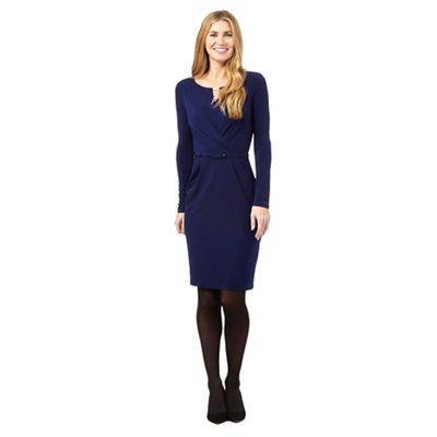 J by Jasper Conran Navy bar jersey dress